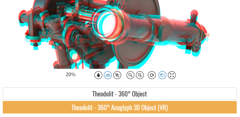 360° anaglyph object photography example