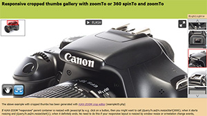 Cropped thumbs gallery with zoomTo