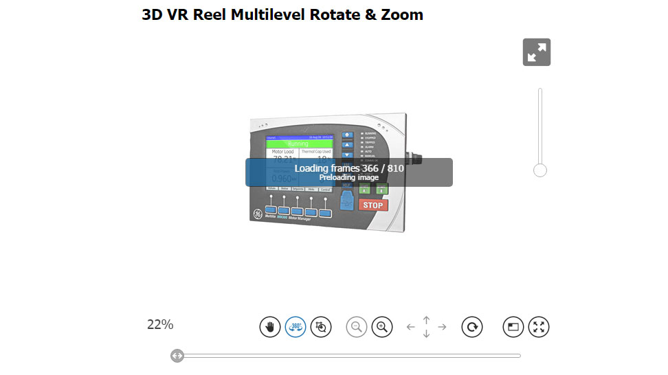 VR Reel Multilevel Produkt 3D Player