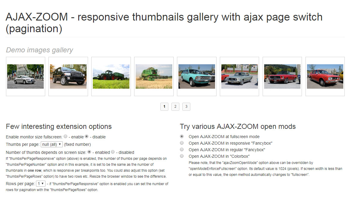 Examples of Javascript image zoom viewer jQuery 360 high
